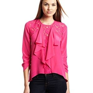 NWT BCBG women's pink blouse size M MSRP $178